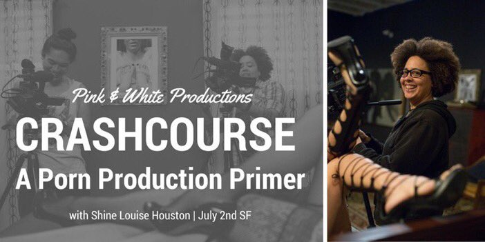 CrashCourse Flier for Shine Louise Houston Adult Film Production Workshop